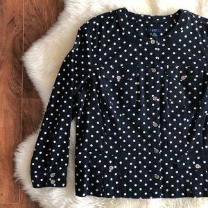 Chaps Polka Dot Plus Size Jacket